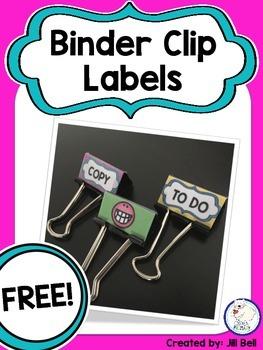 Binder Clip Labels Freebie