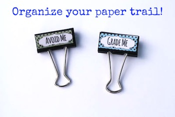 Binder Clip Labels: Star Theme (Editable)