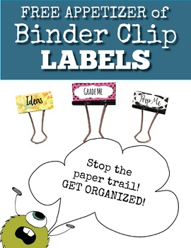 Free Binder Clip Labels: Star, Animal Print, and Watercolo