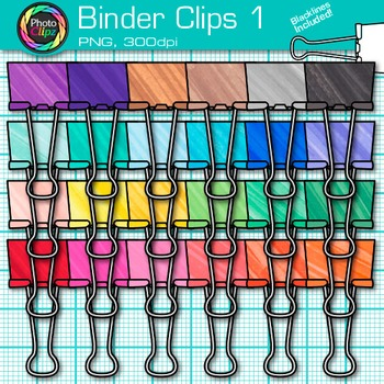 Binder Fastener Clip Art {Back to School Supplies for Classroom Resources} 1