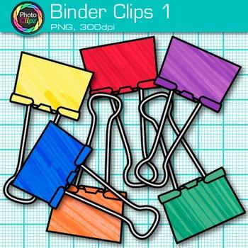 Binder Fastener Clip Art {Back to School Supplies for Classroom Resources} 1