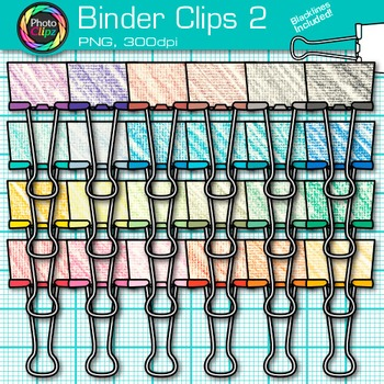 Binder Fastener Clip Art {Back to School Supplies for Classroom Resources} 2