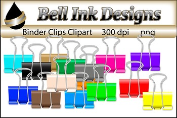 Binder Clips Clipart