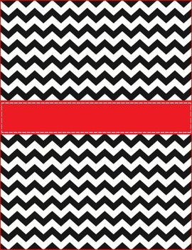Binder Cover Black {Chevron} with Red!