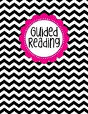 Binder Cover - Black & White Chevron with Magenta Guided Reading Label