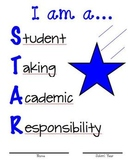 Binder Cover Blue Star