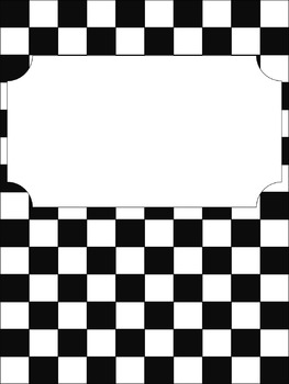 Binder Cover: Checkered Print