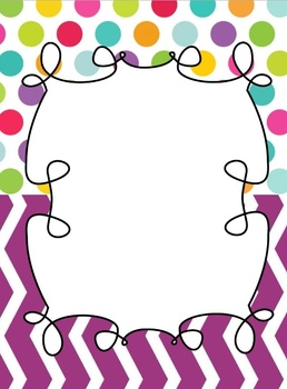 Binder Cover! Colorful!