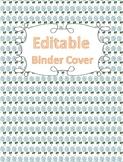 Binder Cover (Editable) - Floral Pattern