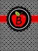 Binder Cover  FREEBIE - Apple Chalkboard Alphabet