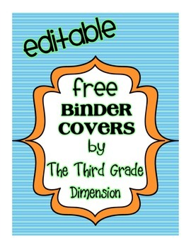 Binder Cover Freebie!