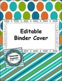 Binder Cover Green, Blue, Orange