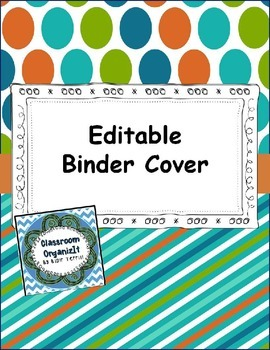 Binder Cover Green, Blue, Orange