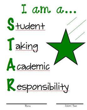 Binder Cover Green Star
