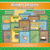 Binder Cover Inserts for 15 Subjects