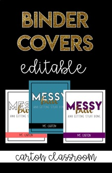Binder Cover - Messy bun and getting stuff done - EDITABLE!