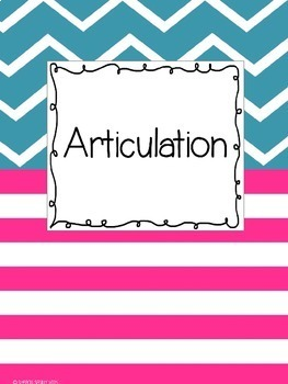 Binder Covers for SLPs : Teal, Hot Pink, & White