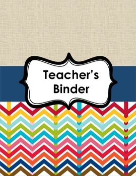 Binder Cover Page