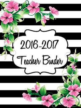 Binder Cover Pages (floral and stripes)