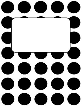 Binder Cover - Polka Dot - Freebie