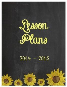 Binder Cover Printable: Chalkboard Sunflower