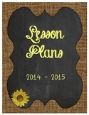 Binder Cover Printable: Chalkboard Sunflower