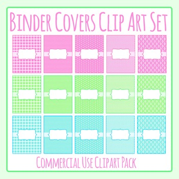 Binder Cover / Product Cover Templates Clip Art Set for Commercial Use