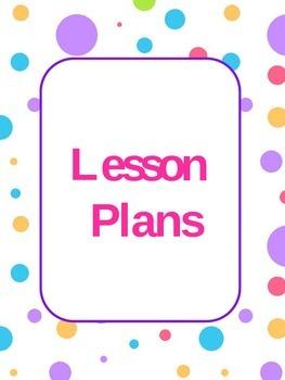 Binder Cover Sample - Lesson Plans