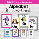Alphabet Posters and Cards  {Bright Calico Classroom}