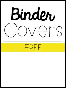 Binder Cover & Spine *FREEBIE*