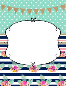 Binder Cover & Spines  *EDITABLE*  'Dreamy Dot Beach'