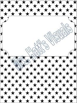 Binder Cover: Stars