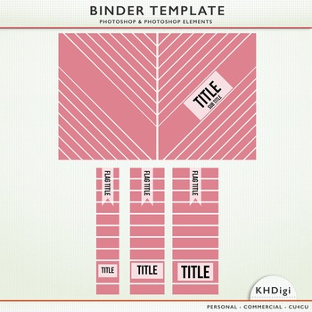 Binder Cover Template - Photoshop & Photoshop Elements
