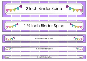 Binder Cover With Assorted Spine Sizes- Editable