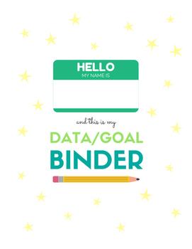 Binder Cover for Data/Goal Binder