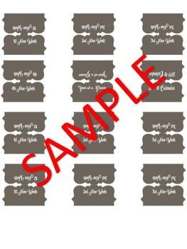 Binder Cover, labels, & tabs