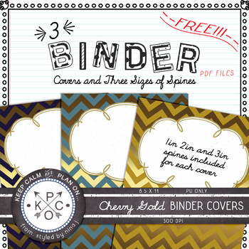 Binder Cover with 3 Sizes of Spines for Each