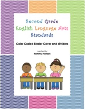 Binder Cover with Color Coded Dividers for Second Grade Language Arts Standards