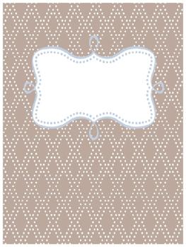 Binder Cover~PolkaDiamond (Customizable)