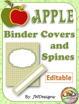Editable Teacher Binder - Apple Theme