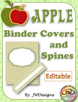 Editable Teacher Binder - Apple Theme