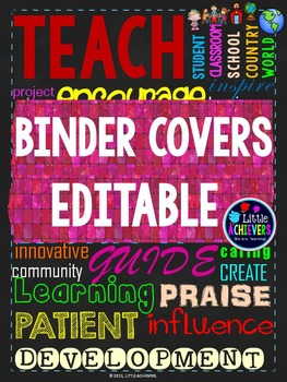 Binder Covers and Spine Editable