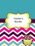 Owl Teacher Binder Covers | Owl Themed Binder Covers
