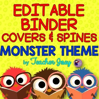 Binder Covers Monster Theme