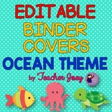 Ocean Theme Binder Covers