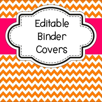 Editable Binder Covers Chevron Theme