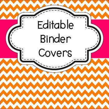Editable Binder Covers Chevron Theme