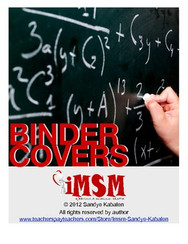 Binder Covers - 7th Grade Math Unit for the Common Core