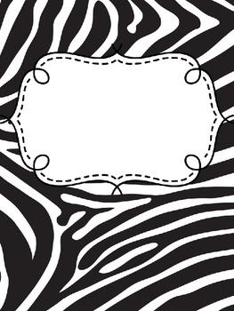 binder covers animal print editable by teresa tretbar tpt