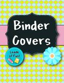 Binder Covers - Aqua/Green/Pink Flower